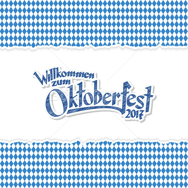 Oktoberfest 2017 background with ripped paper Stock photo © opicobello
