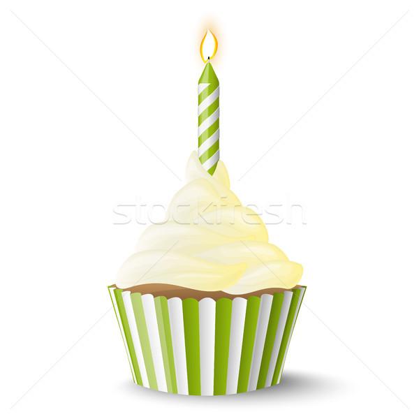 キャンドル 甘い ベクトル 歳の誕生日 ストックフォト © opicobello