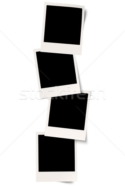 four polaroids with shadow in series Stock photo © opicobello