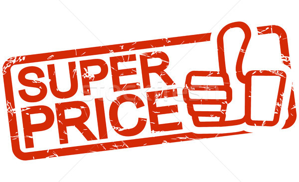 Stock photo: red stamp with text Super Price