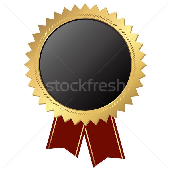 Goud knop lint sjabloon zwarte gouden Stockfoto © opicobello