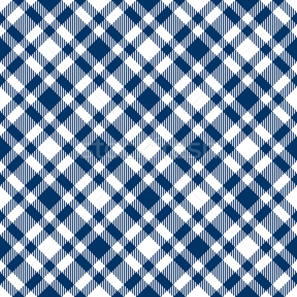 Checkered tablecloths pattern blue - endlessly Stock photo © opicobello