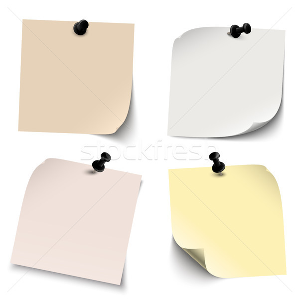 Diverso note adesive raccolta colorato ombre sfondo Foto d'archivio © opicobello