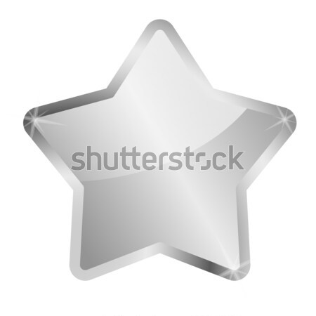 glossy silver star Stock photo © opicobello