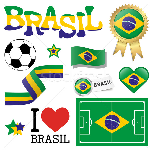 collection - Brasil icons and marketing accessories Stock photo © opicobello