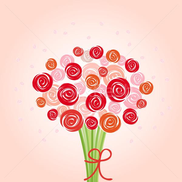 bouquet red flowers Stock photo © opicobello