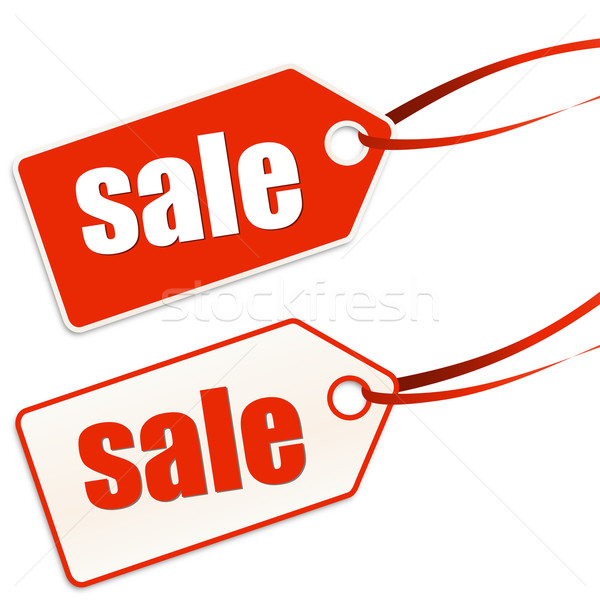 Pendant labeled sale Stock photo © opicobello