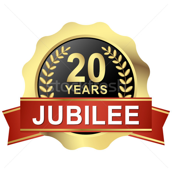 button 20 years jubilee Stock photo © opicobello