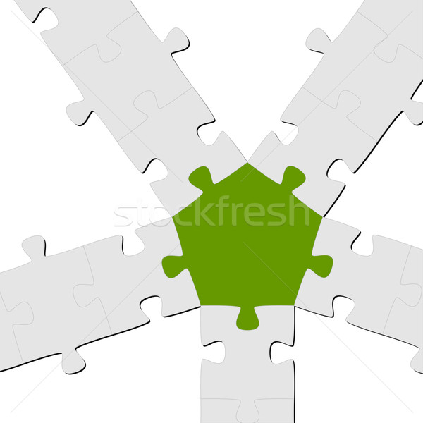 Puzzle Connection / Teamwork symbolism Stock photo © opicobello