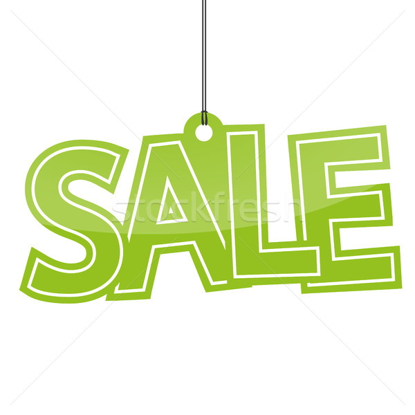 Venda verde cartas branco compras armazenar Foto stock © opicobello