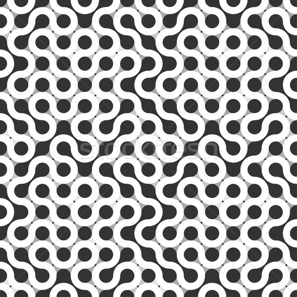 аннотация бесшовный черно белые текстуры фон цвета Сток-фото © opicobello