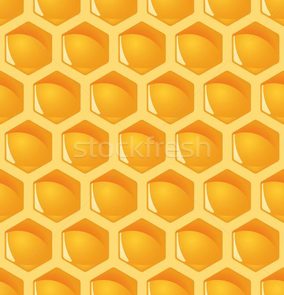 A nido d'ape fiore lavoro abstract design Foto d'archivio © opicobello