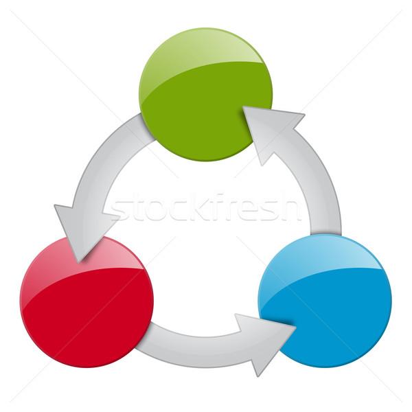 Processo opzioni lavoro sfondo informazioni grafico Foto d'archivio © opicobello