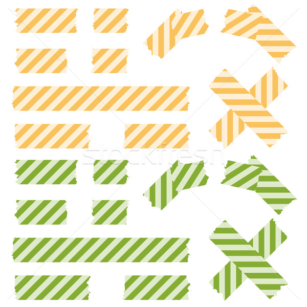 Tape lined pattern - yellow and green Stock photo © opicobello