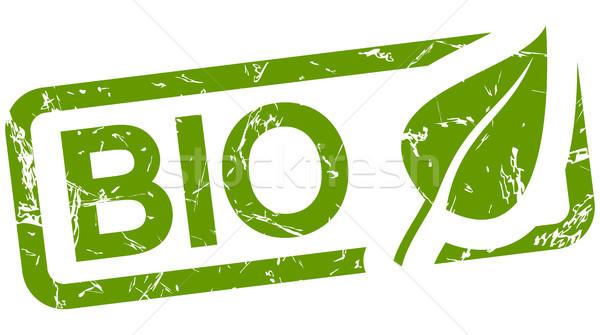 green stamp with text BIO Stock photo © opicobello