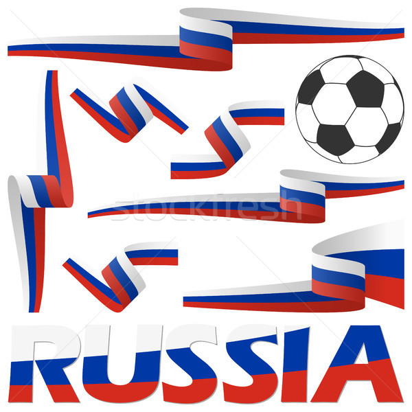 russian soccer banners collection Stock photo © opicobello