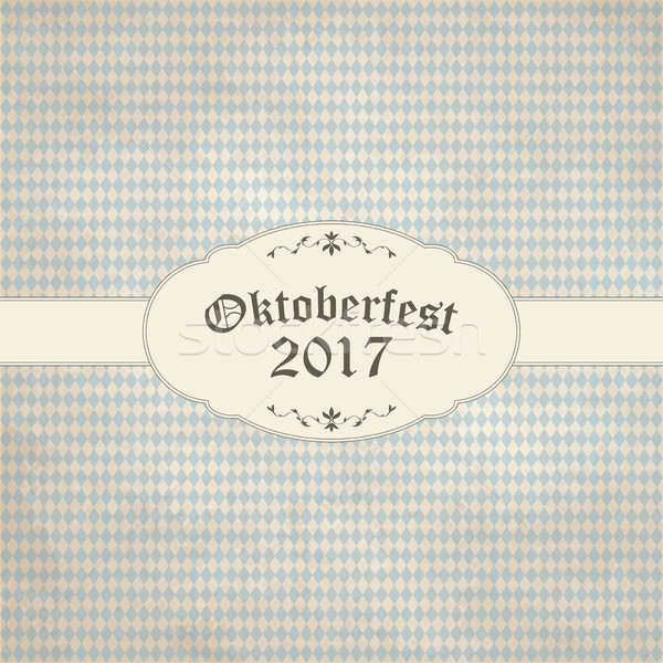 vintage background with checkered pattern for Oktoberfest 2017 Stock photo © opicobello