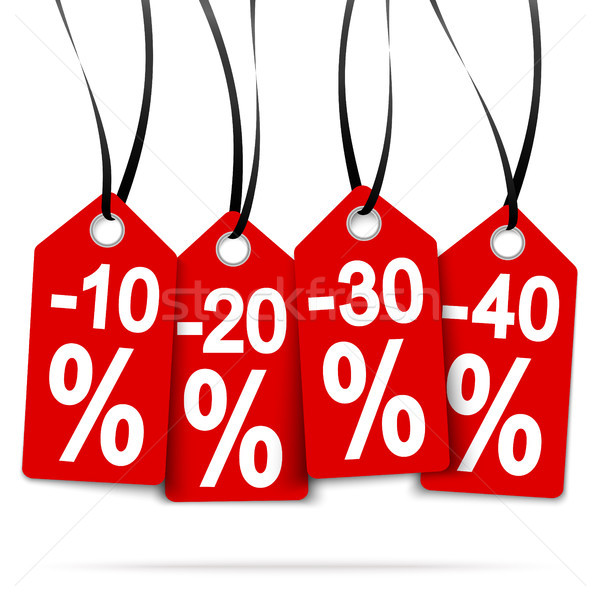 four hangtags with discounts Stock photo © opicobello