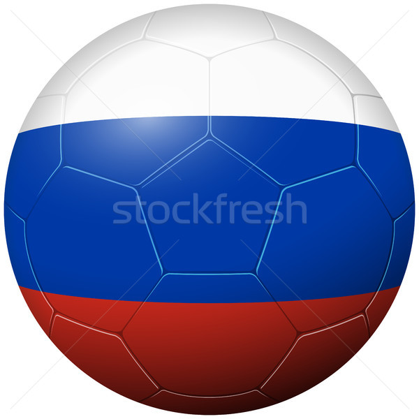 Soccer football - country flag Russia Stock photo © opicobello