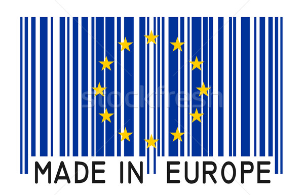 barcode - MADE IN EUROPE  Stock photo © opicobello