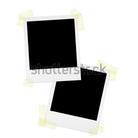 Blank polaroids with adhesive tape Stock photo © opicobello