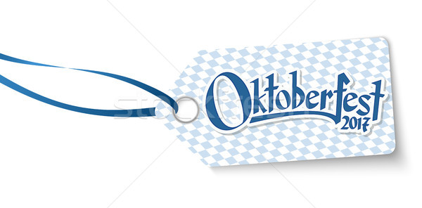 hangtag with text Willkommen zum Oktoberfest 2017 Stock photo © opicobello