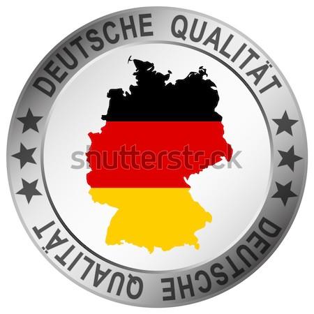 Kwaliteit knop silhouet Duitsland tekst winkel Stockfoto © opicobello