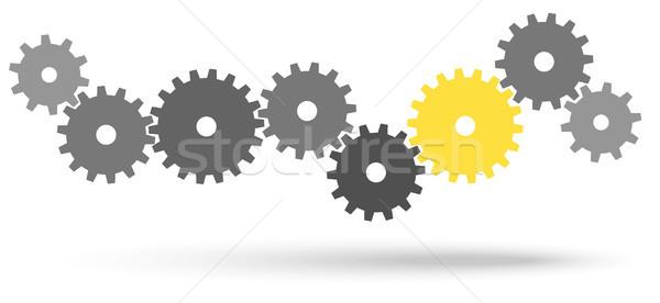 歯車 協力 シンボリズム グレー チームワーク 1 ストックフォト © opicobello