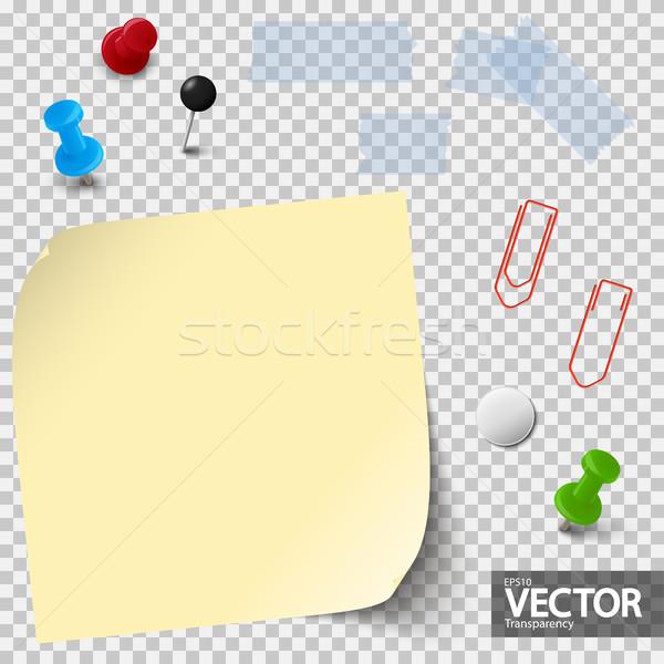 Lege papier kantoor collectie een Stockfoto © opicobello