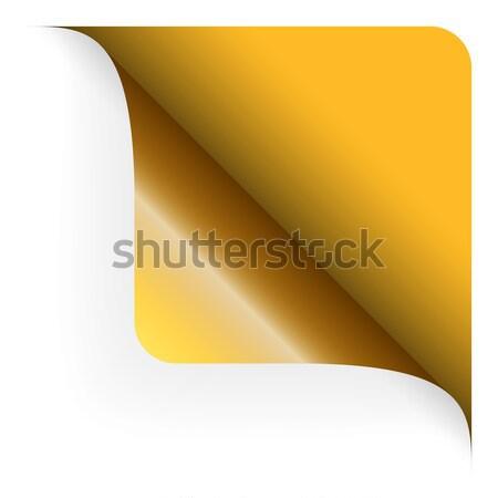 Paper lower right corner Stock photo © opicobello