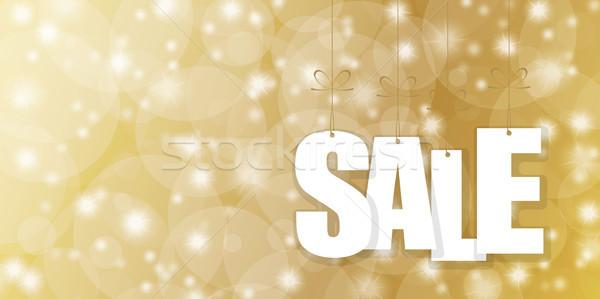 Venda dourado branco abstrato Foto stock © opicobello