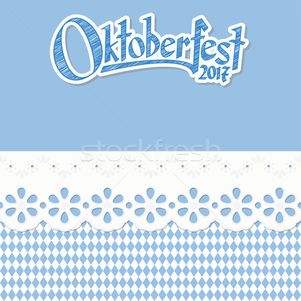 background with checkered pattern for Oktoberfest 2017 Stock photo © opicobello