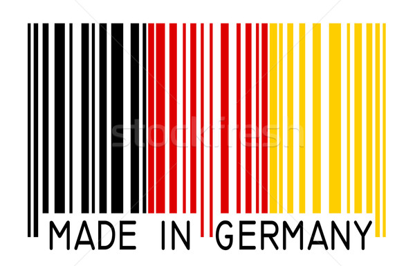 barcode - MADE IN GERMANY Stock photo © opicobello