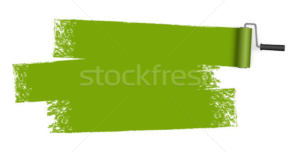 Stock photo: paint roller with marking