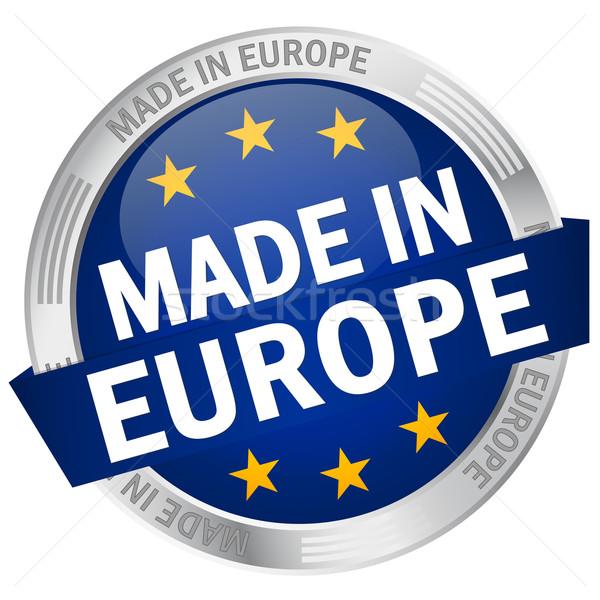 Pulsante banner Europa web bandiera servizio Foto d'archivio © opicobello