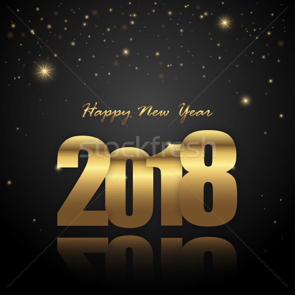 happy new year 2018 greetings background Stock photo © opicobello