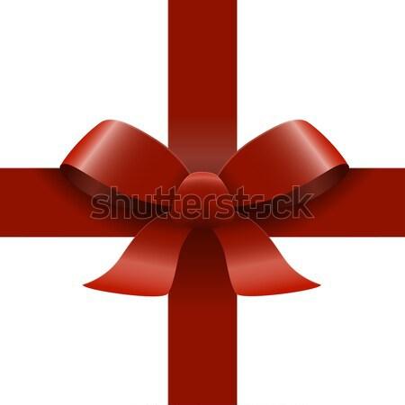 red ribbon bow Stock photo © opicobello