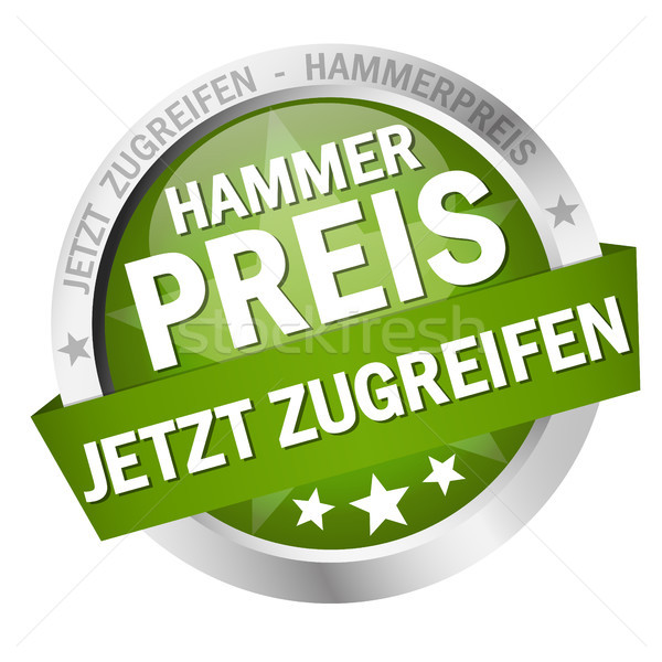 Button with Banner - Hammerpreis - jetzt zugreifen Stock photo © opicobello