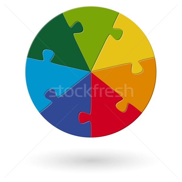 Puzzle opzioni design informazioni presentazione disegno Foto d'archivio © opicobello