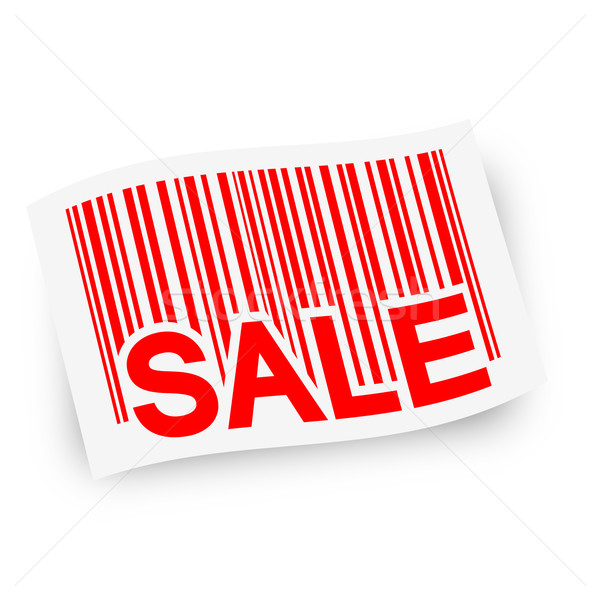 Stock photo: Flag with barcode -  SALE