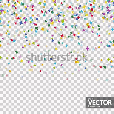 seamless colored confetti background with vector transparency Stock photo © opicobello