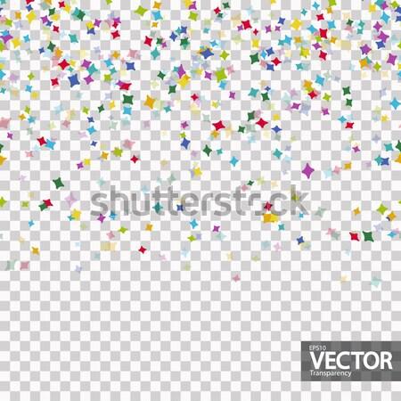 бесшовный конфетти вектора прозрачность вечеринка Сток-фото © opicobello