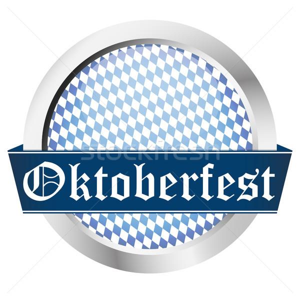 blue button Oktoberfest Stock photo © opicobello
