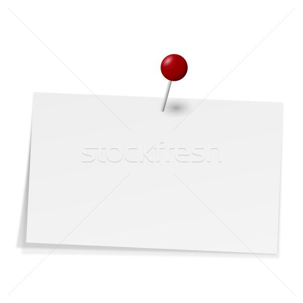 Notatka igły biały pin biuro kolor Zdjęcia stock © opicobello