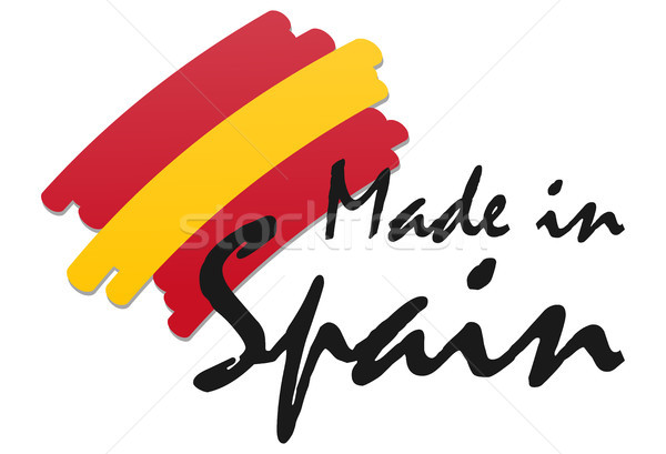 seal of quality Made in Spain Stock photo © opicobello
