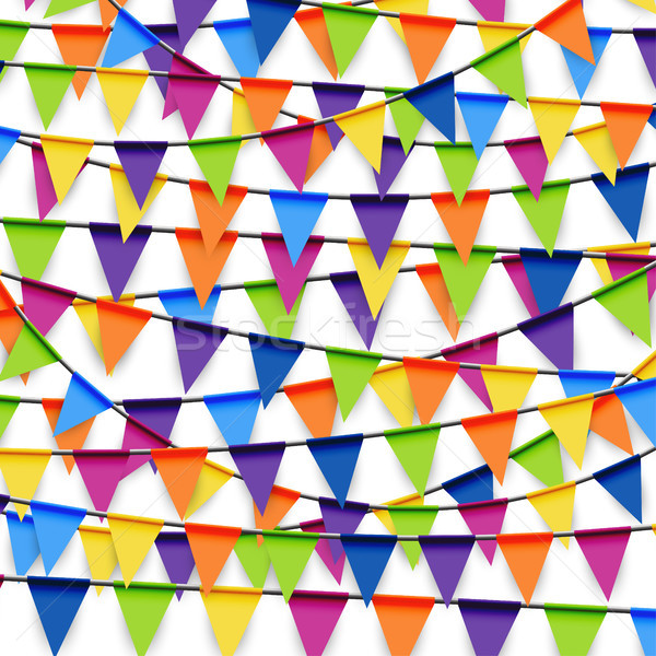 colored party garland background Stock photo © opicobello