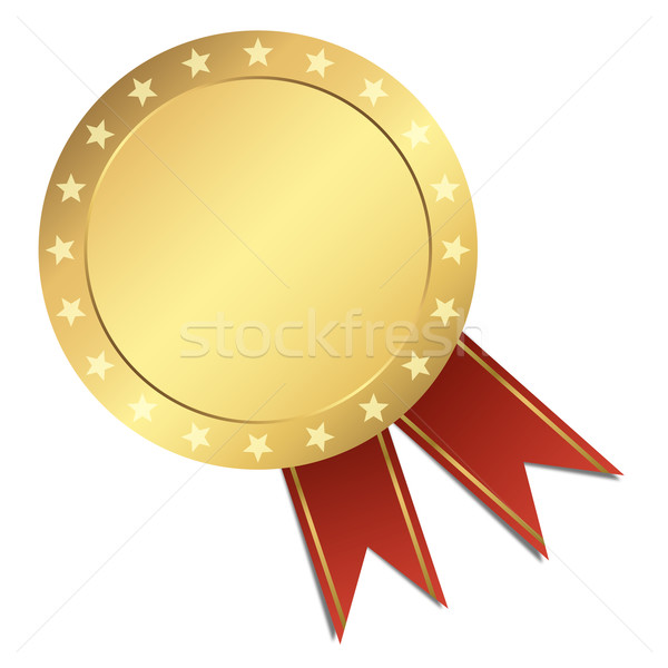 Template Seal - gold with stars Stock photo © opicobello