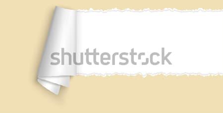 Open carta spazio testo giallo colorato Foto d'archivio © opicobello