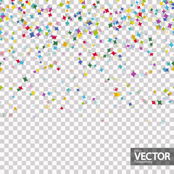 seamless confetti party background with vector transparency Stock photo © opicobello
