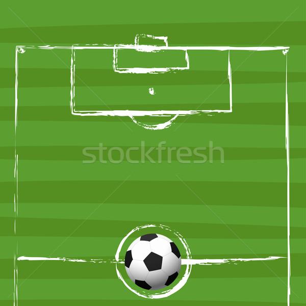 Гранж рисунок Футбол аннотация белый Сток-фото © opicobello